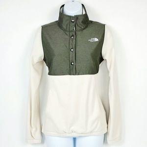 The North Face Snap It Fleece Pullover Ivory XS